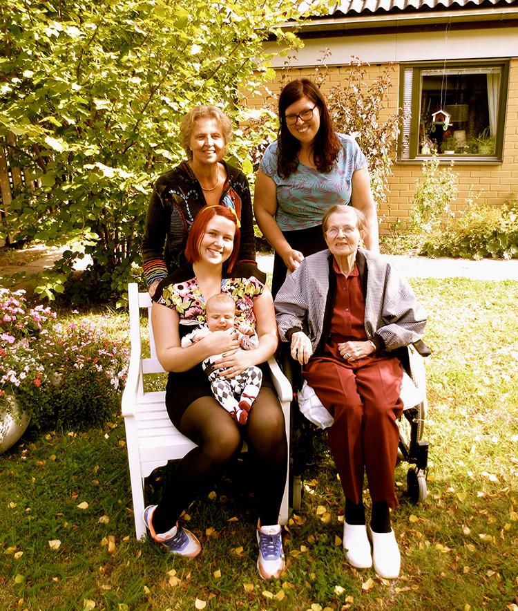 4 generationer på en bild