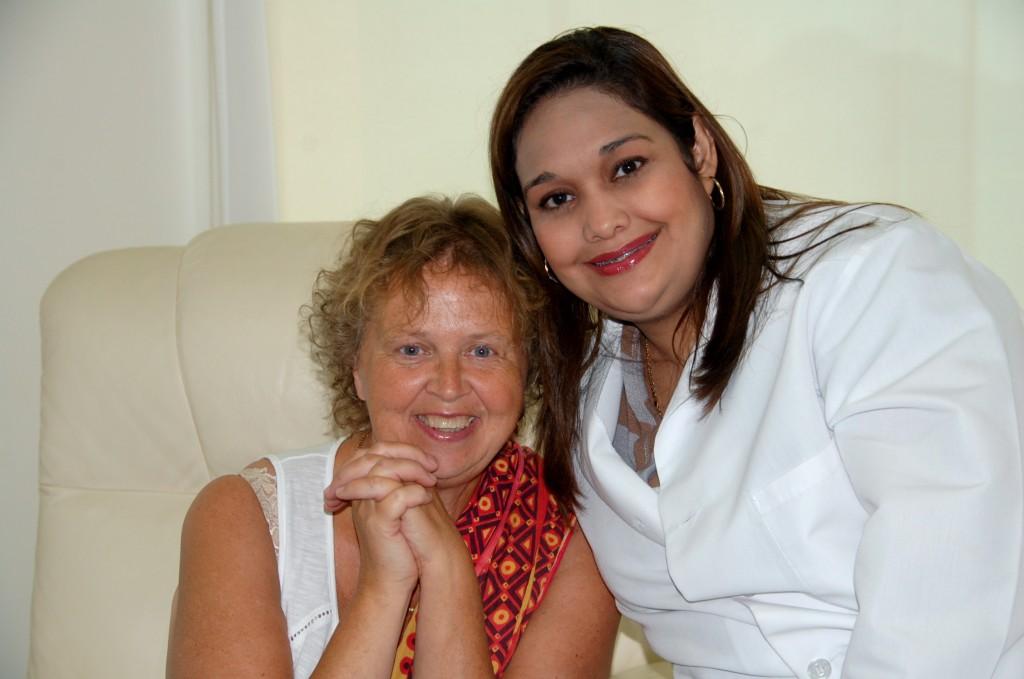 Jag och en av läkarna på SCI. Efter avslutat samtal med henne, så var det fritt fram för Birgitta att ta en bild